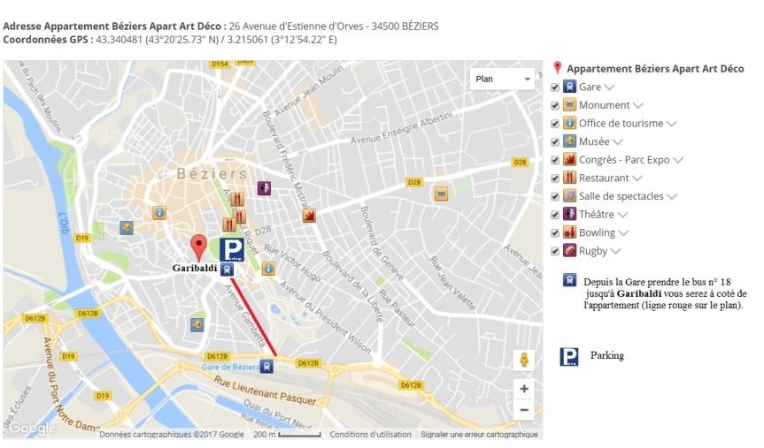 Plan Appartement Béziers Apart Art Déco Béziers